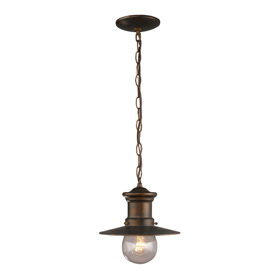 Porch Light Pendant: Shop Westmore Lighting Del Mar 10-in Hazelnut Bronze