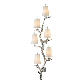 Westmore Lighting Saga 19-In W 6-Light Silver Leaf Candle...