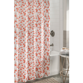 Display product reviews for Polyester Coral Floral Shower Curtain 72-in x 72-in