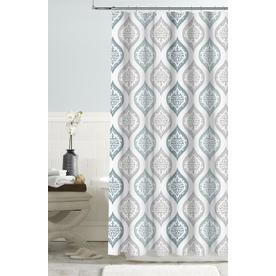 Display Product Reviews For Polyester Blue Patterned Shower Curtain