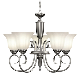 Brushed Nickel Chandelier For A Contemporary Home Design
