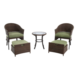 display product reviews for 5 piece cape verde brown steel patio conversation set - Garden Furniture Lowes