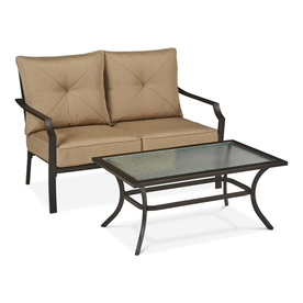 Display Product Reviews For Vinehaven 2 Piece Steel Frame Patio  Conversation Set With Tan Cushions