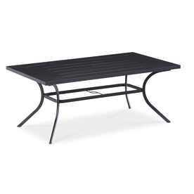 Shop Patio Tables At Lowescom - White metal outdoor dining table
