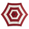 Lowes.com deals on Garden Treasures Red Stripe Market Patio Umbrella