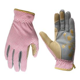 Beau Display Product Reviews For Female Medium Pink And Grey Leather Garden  Gloves