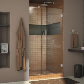 DreamLine Unidoor Lux 38-in to 38-in W Frameless Brushed Nickel Hinged Shower Door SHDR-23387210-04