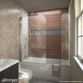 Dreamline Aqua Swing 60-In W X 58-In H Frameless Bathtub ...