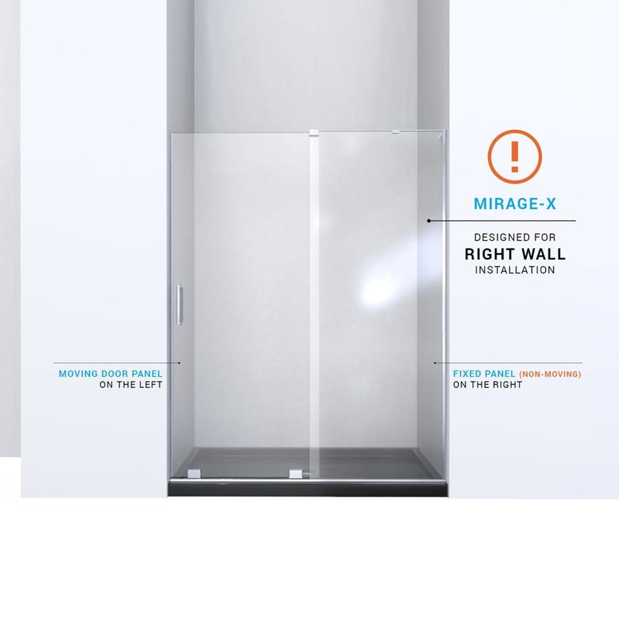 Dreamline Mirage X 72 In H X 56 In To 60 In W Frameless Bypass Sliding Chrome Shower Door Clear Glass In The Shower Doors Department At Lowes Com