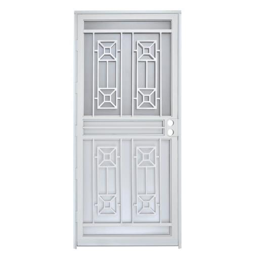 Gatehouse Matrix White Steel Recessed Mount Single Security Door (Common: 36 In  X