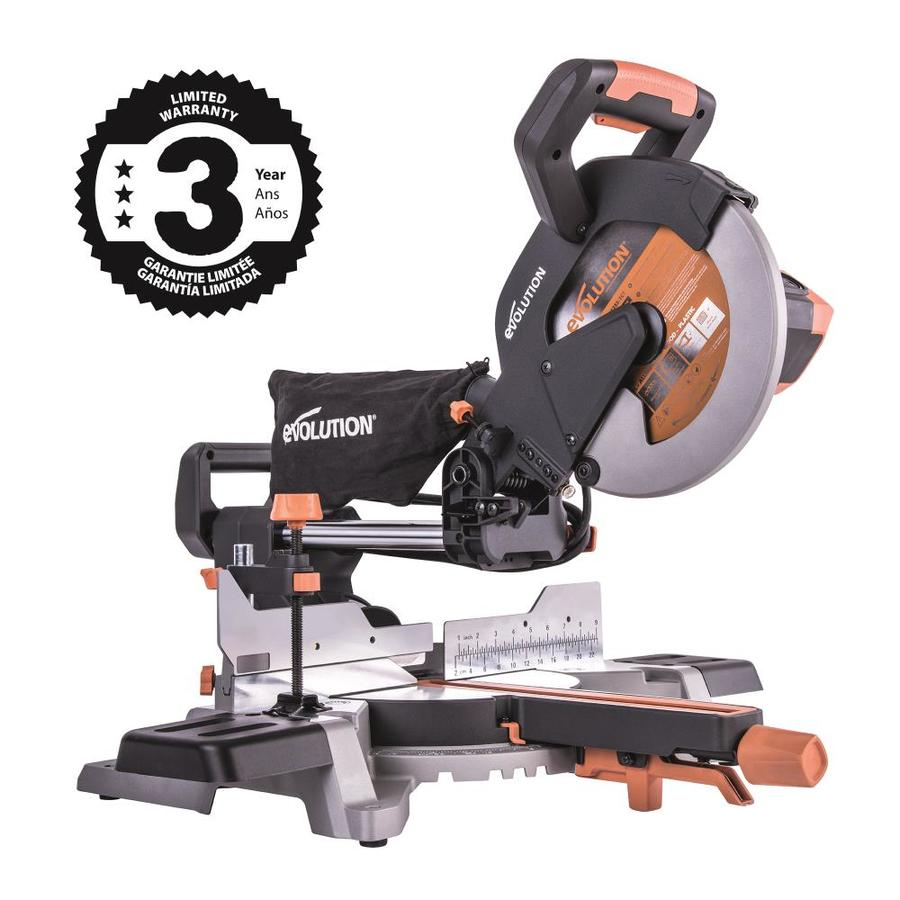 Evolution Rage 10-In 15-Amp Single Bevel Sliding Miter Saw R255sms