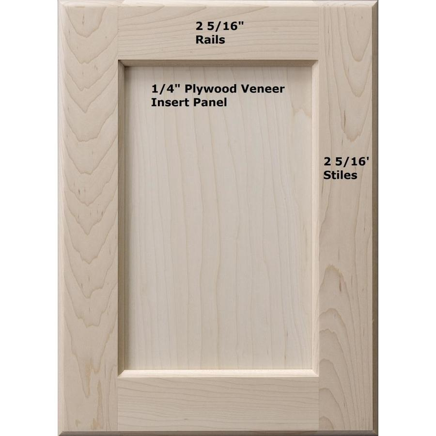 Surfaces 16 In W X 28 In H X 0 75 In D Hard Maple Wall Cabinet Door In The Kitchen Cabinet Doors Department At Lowes Com