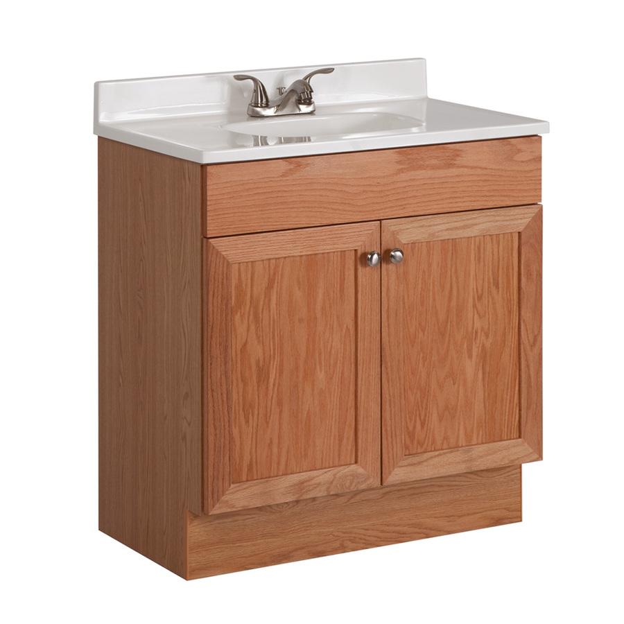 Enlarged image - 30 bathroom vanity with marble top ...