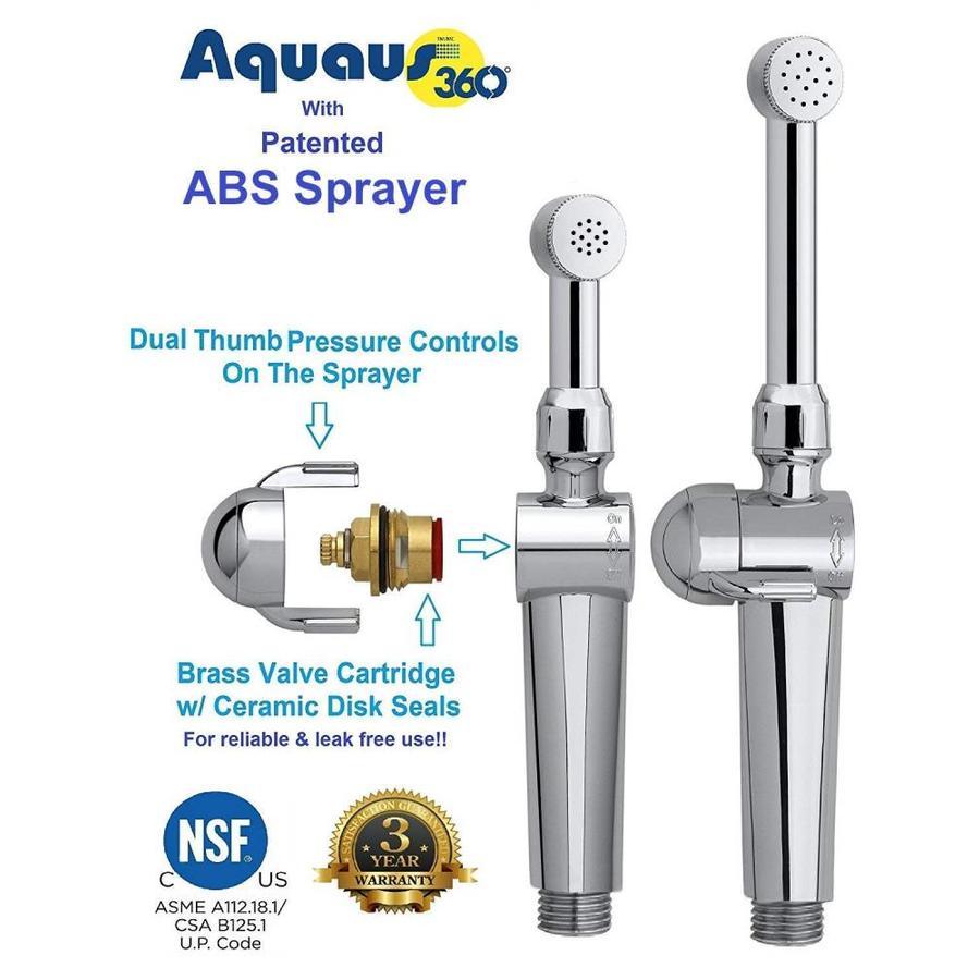 Aquaus Chrome Toilet Mounted Handheld Bidet Sprayer In The Handheld Bidet Sprayers Department At Lowes Com
