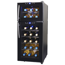 Shop beverage centers wine chillers at lowes display product reviews for 21 bottle black dual zone wine chiller publicscrutiny Image collections