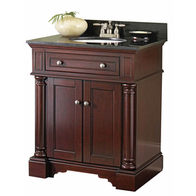 Display Product Reviews For Albain Auburn Undermount Single Sink Bathroom  Vanity With Granite Top (Actual