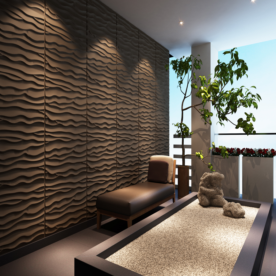 Feature Wall Wainscoting: Embossed Bamboo Hardboard Wainscoting Wall Panel