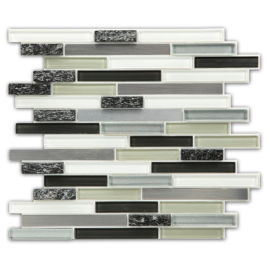 - Peel And Stick Glass Tile Backsplash No Grout. Bellagio Keystone