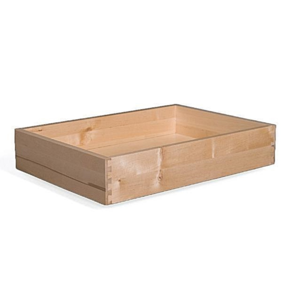 Surfaces 20-In W X 4-In H X 21-In D Natural Birch Cabinet Drawer Box Drawerbox42021, Brown