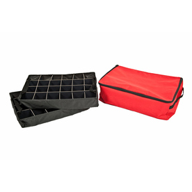 TreeKeeper 14-in x 6-in Red Polyester Ornament Storage Bag SB-10123