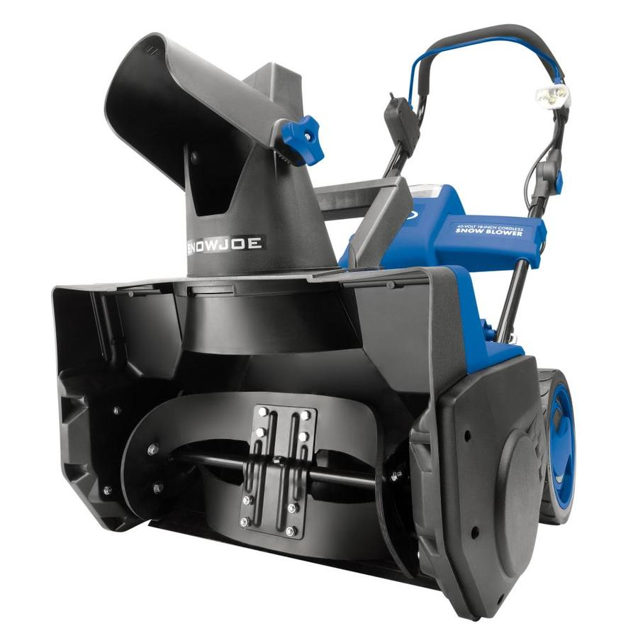 Snow Joe iON 40-V Cordless 18-Inch Brushless Snow Blower with Rechargeable EcoSharp Battery