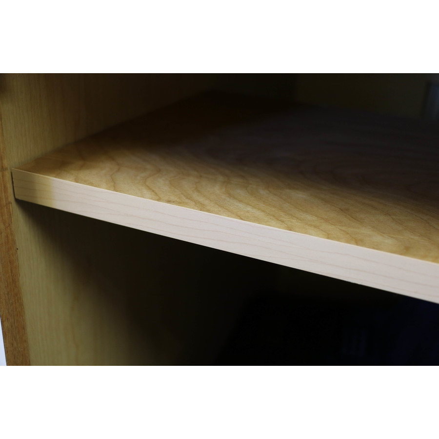 Surfaces 22.4375-in W x 0.75-in H x 10.5-in D Cabinet Shelf Kit in Brown | WALLCABSHF24