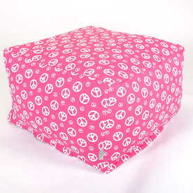 Majestic Home Hot Pink Peace Bean Bag Chair 85907210222