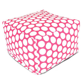 Majestic Home Hot Pink Large Polka Dot Bean Bag Chair 859...