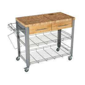 Chris & Chris 40-In L X 20-In W X 35-In H Natural Kitchen...