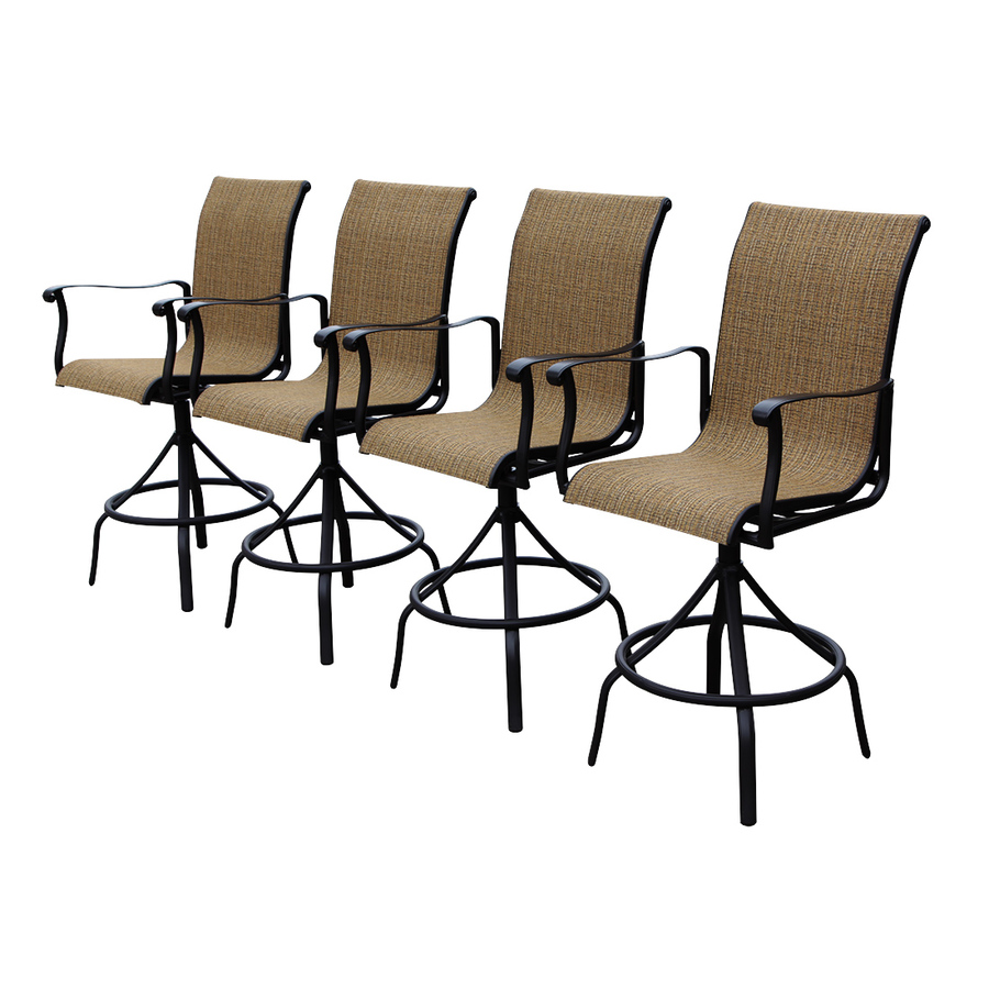 Safford Aluminum Swivel Patio Bar Height Chairs Of 4