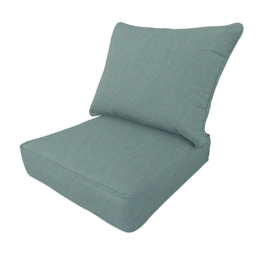 Allen Roth Sunbrella Canvas Spa Deep Seat Patio Chair Cushion On