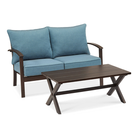 Display Product Reviews For Atworth 2 Piece Frame Patio Conversation Set With Pea Blue Cushions