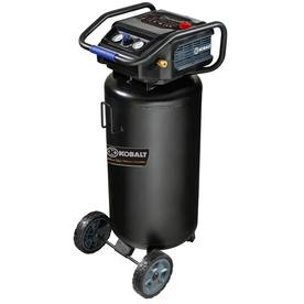 26-Gallon Portable Electric Vertical Air Compressor - Kobalt 0332641