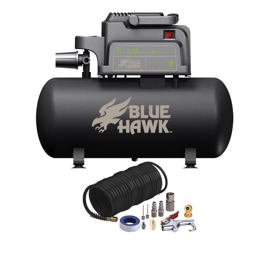 Shop Blue Hawk 0.3-HP 2-Gallon 100-PSI 120-Volt Hot Dog