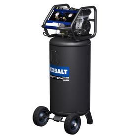 QUIET TECH 26-Gallon Portable Electric Vertical Quiet Air Compressor - Kobalt 3332643