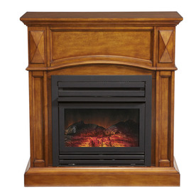 Display Product Reviews For 35 75 In Dual Burner Heritage Oak Gas Fireplace