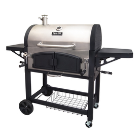 Dyna-Glo 32-In Stainless Steel And Black Barrel Charcoal Grill Dgn576snc-D