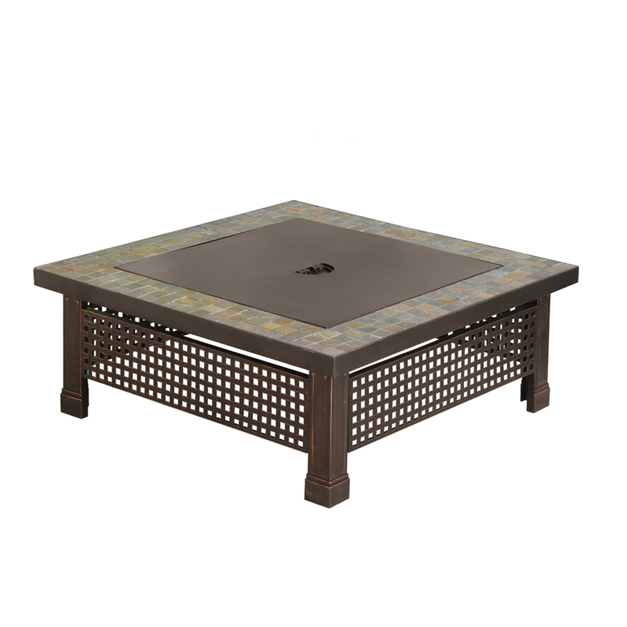 Pleasant Hearth Bradford 34 In W Rubbed Bronze Steel Wood Burning Fire Pit In The Wood Burning Fire Pits Department At Lowes Com