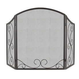 Display Product Reviews For 48 In Black Steel 3 Panel Scroll Fireplace Screen