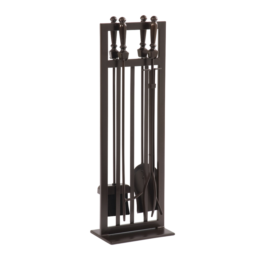Shop Allen Roth 5 Piece Steel Fireplace Tool Set At