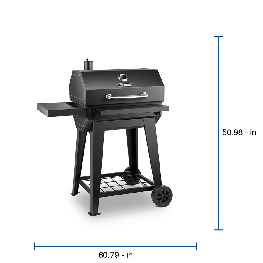 Flamepro Flamepro By Dyna Glo 24 9 In Black Barrel Charcoal Grill In The Charcoal Grills Department At Lowes Com