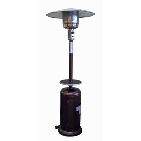 Display Product Reviews For 41 000 Btu Hammered Gold Steel Floorstanding Liquid Propane Patio Heater