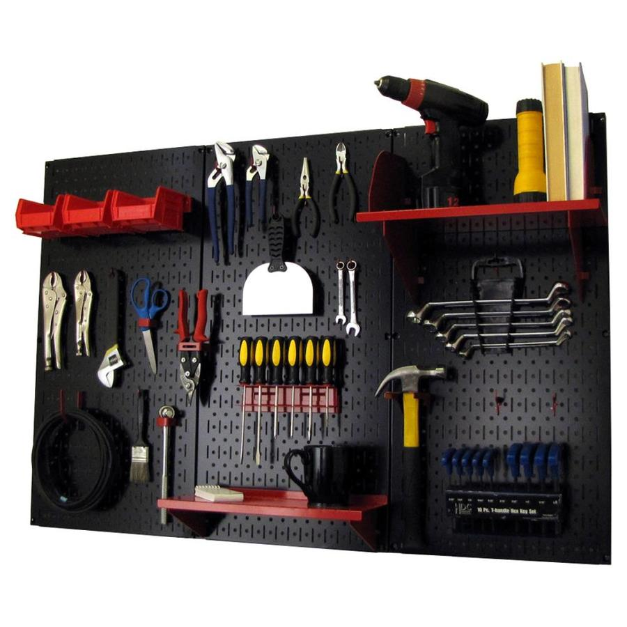 Wall Control 30-Piece Steel Pegboards Kit (Actual: 16-In X 32-In) 30-Wrk-400 Br