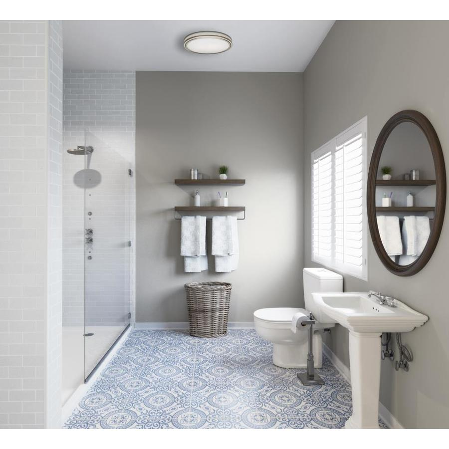 Hunter Riazzi 3 Sone 110 Cfm Brushed Nickel In The Bathroom Fans Heaters Department At Lowes Com