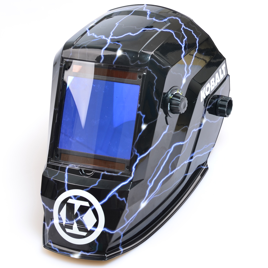 Kobalt Welding Helmet Auto Darkening Variable Shade Hydrographic Mask Hood Hat