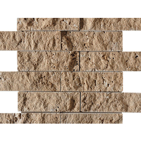 Bermar Natural Stone 11.75-in x 12-in Rock Face Natural Travertine Floor Tile BMRS0608