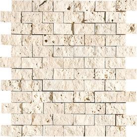 Bermar Natural Stone 11.75-in x 12-in Rock Face Natural Travertine Floor Tile BMRS0601