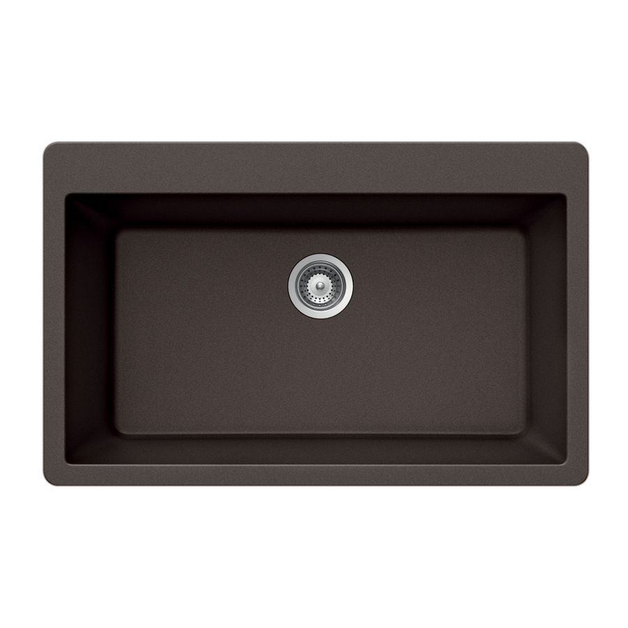 Houzer Single Basin Drop In Granite Kitchen Sink