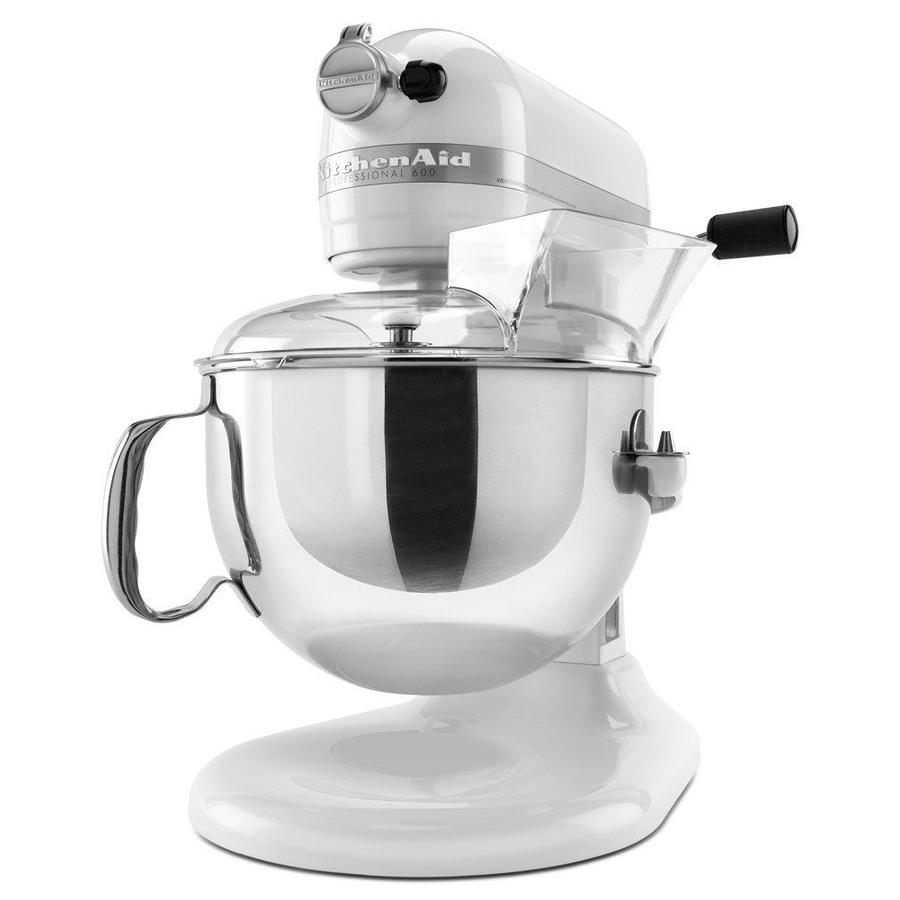 Kitchenaid Professional Professional 6 Quart 10 Speed White Residential Stand Mixer In The Stand Mixers Department At Lowes Com