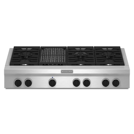 KitchenAid 6-Burner Gas Cooktop (Stainless Steel) (Common...